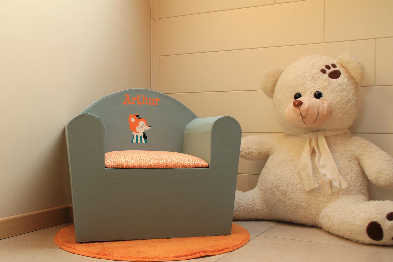 fauteuil personnalisé Arthur