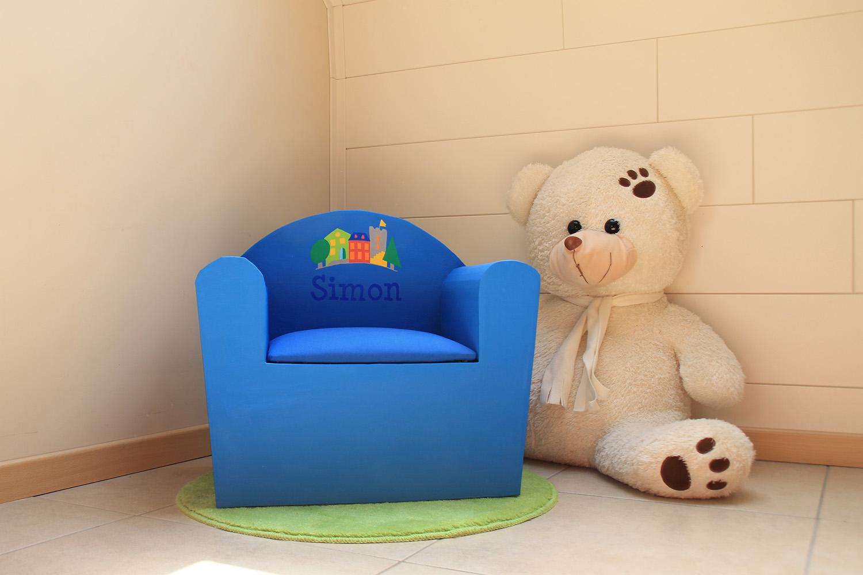 fauteuil personnalisé Simon
