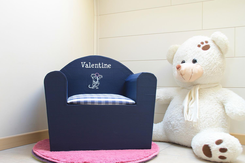 fauteuil personnalisé Valentine